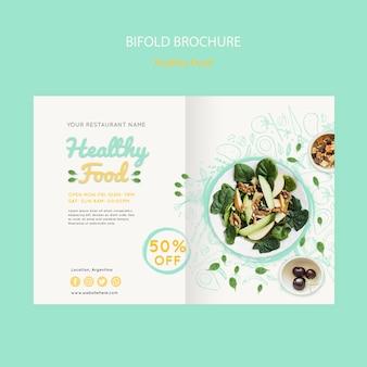 Brochure à deux volets sur les aliments sains