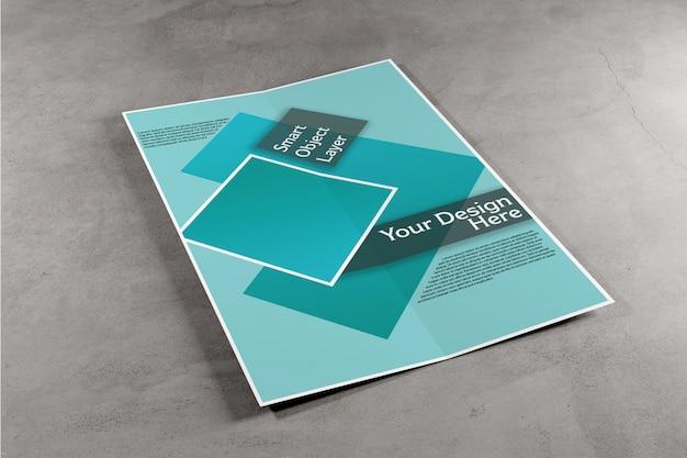 Brochure à deux volets maquette