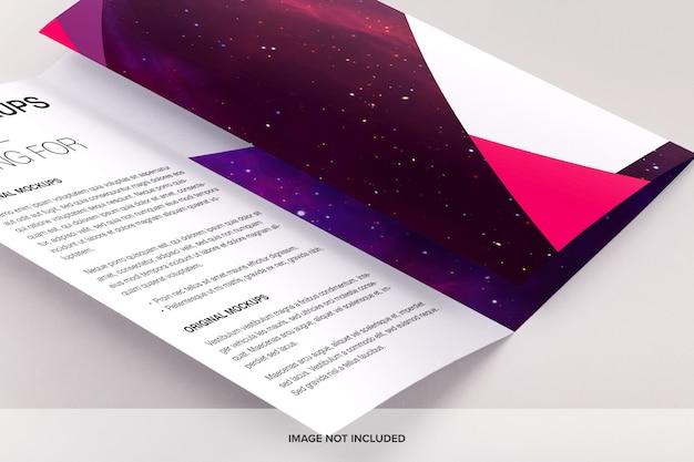 Brochure juridique à trois volets maquette psd
