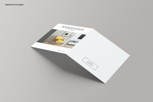 Brochure maquette à deux volets carrés