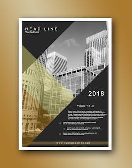 Brochure modern business gold