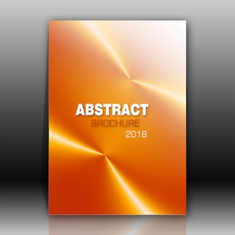Brochure en orange brillant