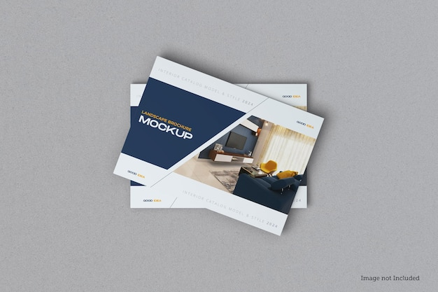 Brochure de paysage et maquette de couverture de catalogue