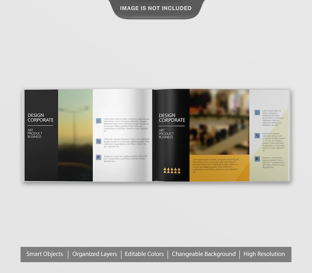 Brochure de paysage réaliste incroyable ou maquette de flyer