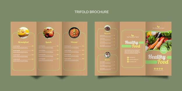 Brochure pliante d'aliments sains