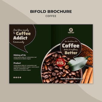 Brochure pliante café