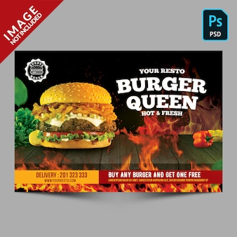 Brochure de promotion du hamburger