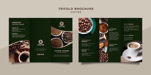 Brochure à trois volets sur le café