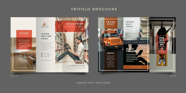 Brochure à trois volets sur l'éducation
