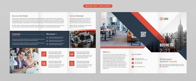 Brochure à trois volets pour les entreprises et la publicité