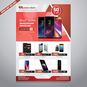 Brochure de vente de smartphone