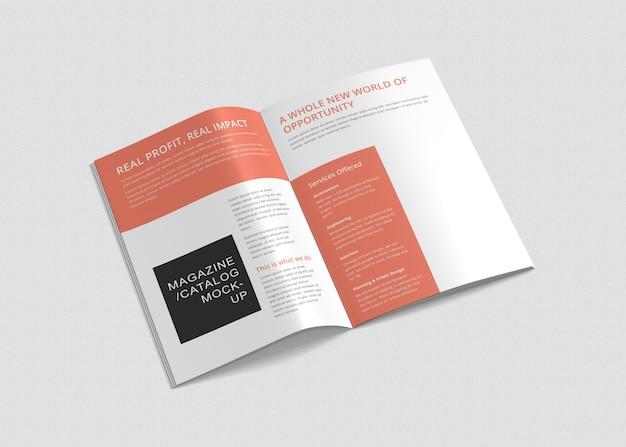 Brochures a4 et maquettes de magazines