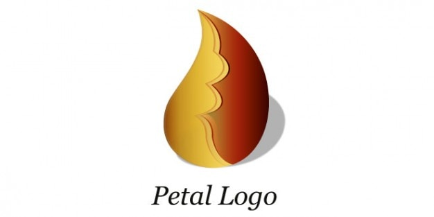 Brun conception pétale de logo