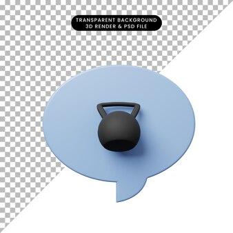 Bulle De Chat Illustration 3d Avec Haltère PSD Premium