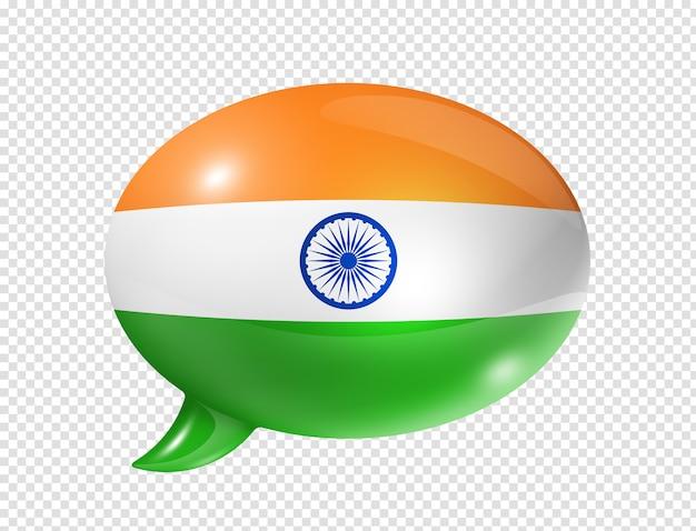 Bulle de dialogue drapeau indien