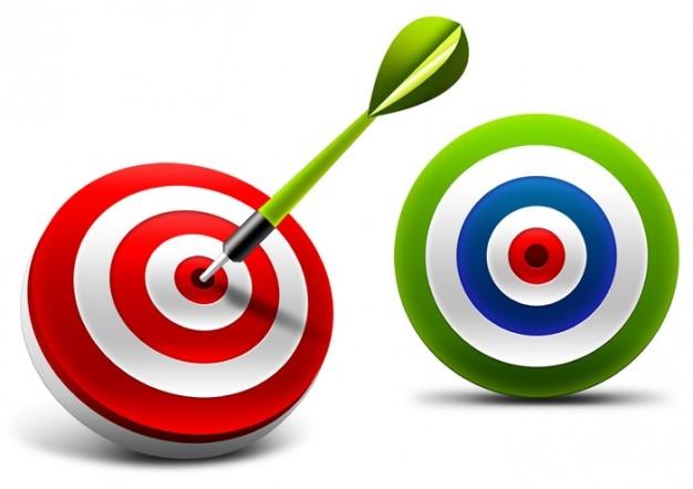 Bullseye classique. fléchettes.
