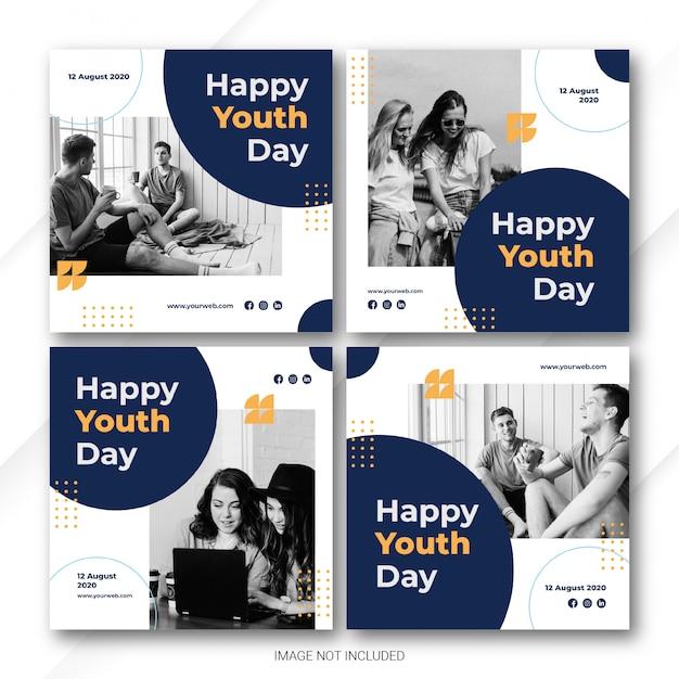 Bundle instagram post pour la journée internationale de la jeunesse