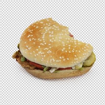 Burger isométrique
