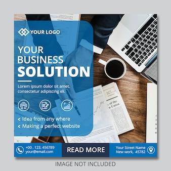 Business instagram post bannières