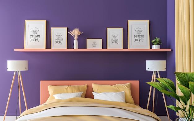 Cadre d'affiche dans la maquette de la chambre