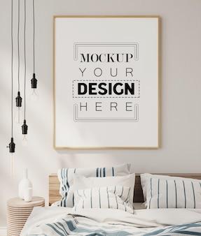 Cadre d'affiche dans la maquette du salon