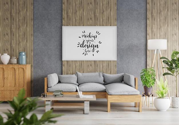 Cadre d'affiche dans le salon