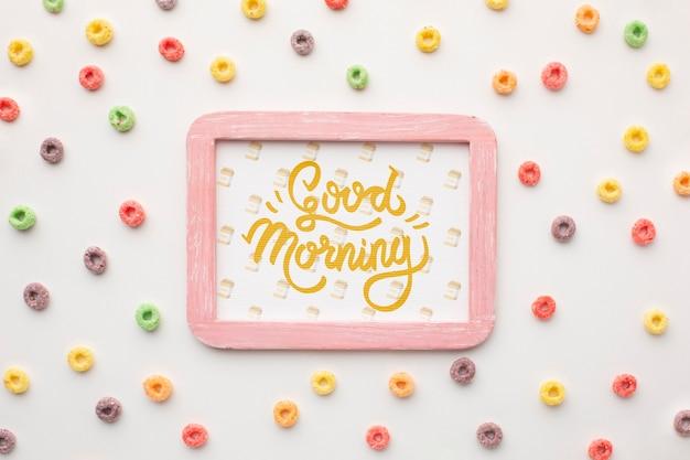 Cadre avec bon message du matin
