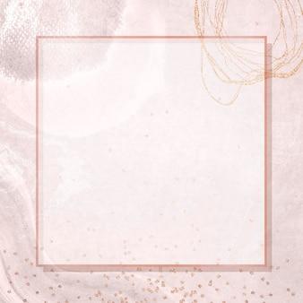 Cadre carré sur la maquette de fond social neo memphis