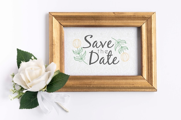 Cadre avec enregistrer la date