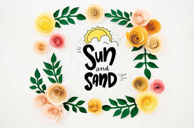 Cadre floral créatif avec message