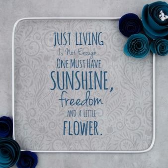 Cadre floral ornemental maquette avec message