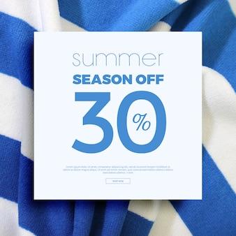 Cadre et fond de vente d'été