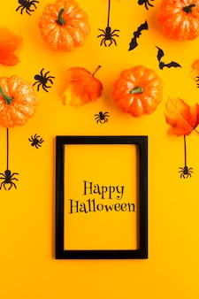 Cadre avec joyeux message d'halloween