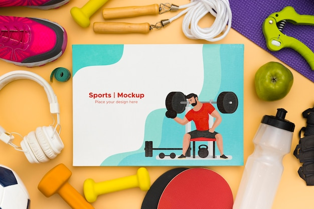 Cadre de maquette d'équipement de sport