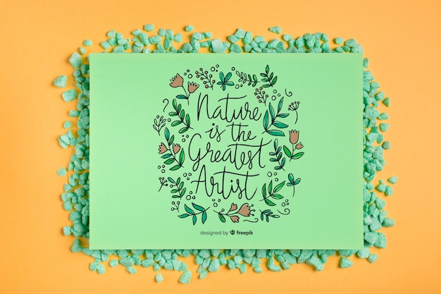 Cadre de maquette avec message inspirant