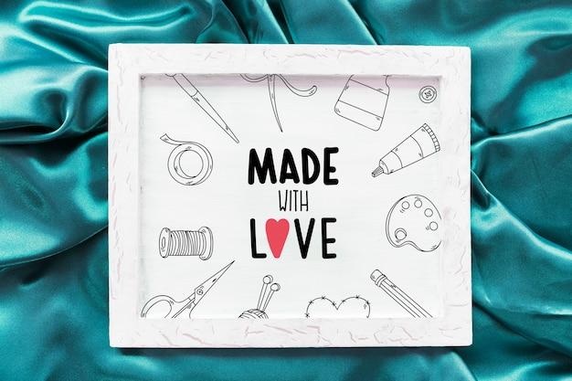 Cadre maquette en textile