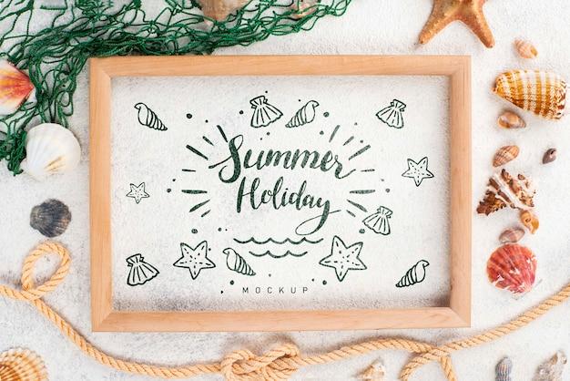 Cadre avec message d'été