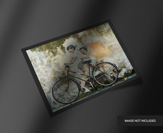 Cadre photo horizontal avec superposition d'ombres