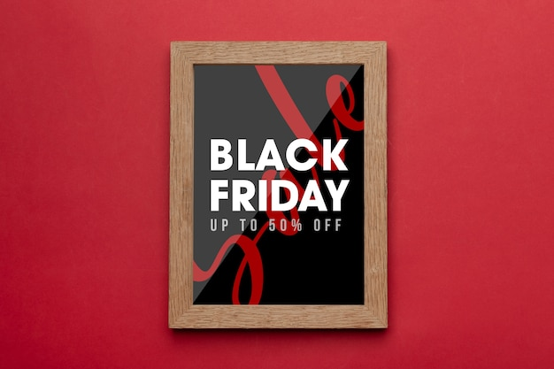 Cadre photo avec maquette de campagne du vendredi noir