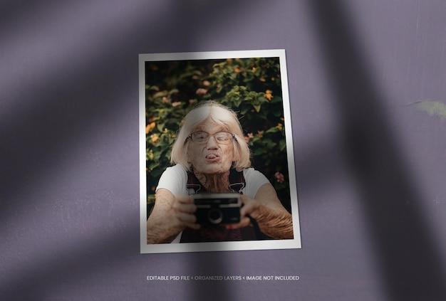 Cadre photo portrait unique avec superposition d'ombres