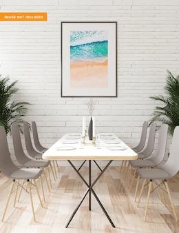 Cadre photo pour maquette dans le rendu 3d de la salle à manger