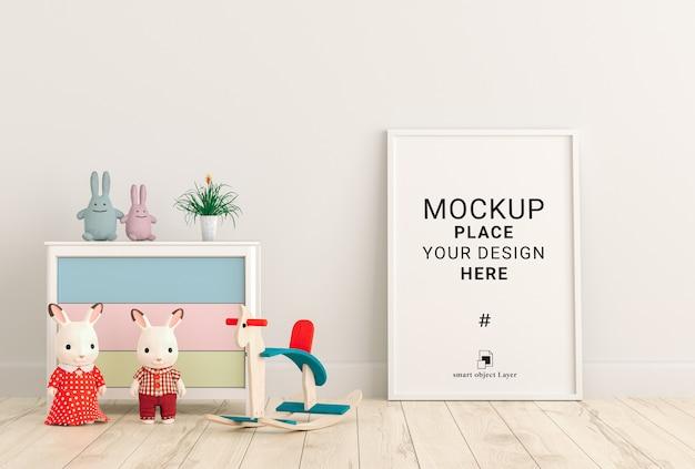 Cadre photo vide pour maquette dans la chambre des enfants