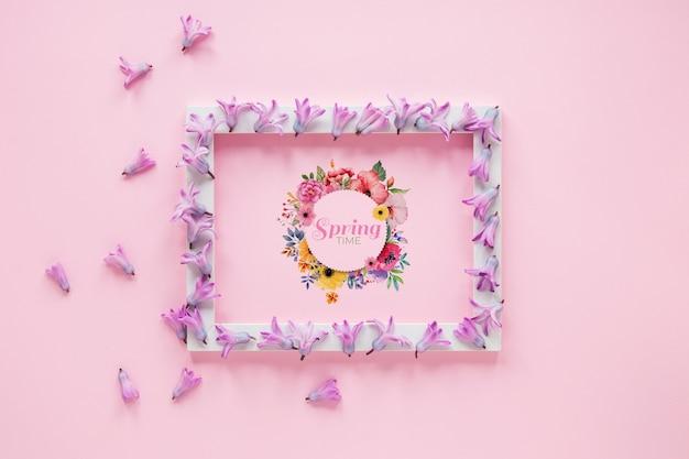 Cadre plat à poser pour le printemps