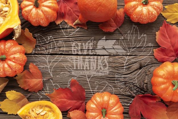 Cadre thématique pour le jour de thanksgiving