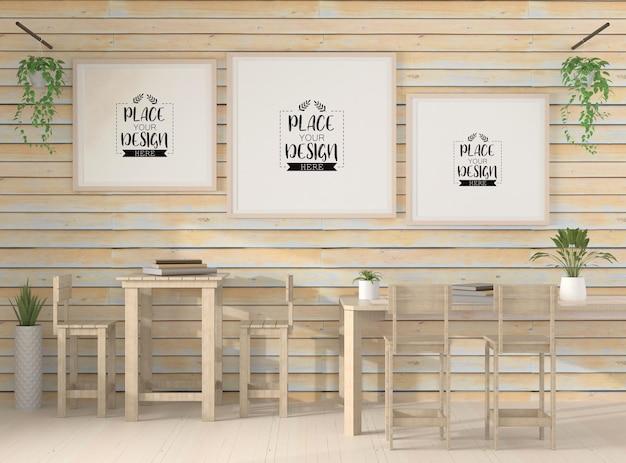 Cadres d'affiche dans le salon