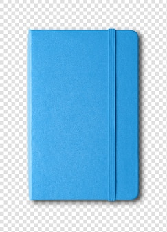 Cahier fermé bleu isolé