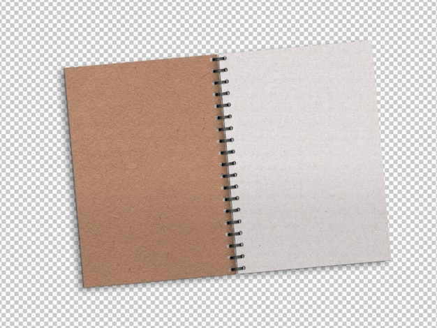 Cahier ouvert isolé
