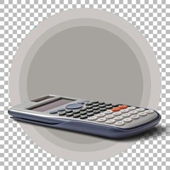Calculatrice numérique isolée sur fond transparent