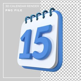 Calendrier 3d 15 jours