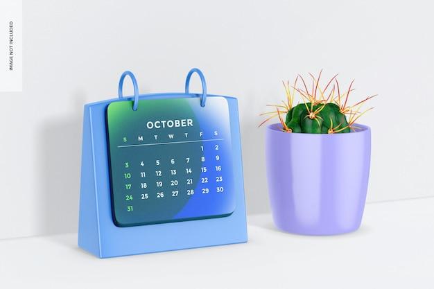 Calendrier de table avec maquette de pot de fleurs